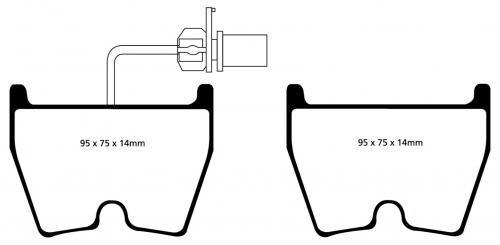 DP31513C Redstuff Front Brake Pads (Street) EBC Brakes