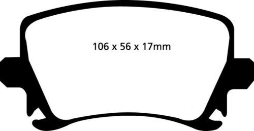 DP31518C Redstuff Bakre Bromsbelägg (Gata) EBC Brakes