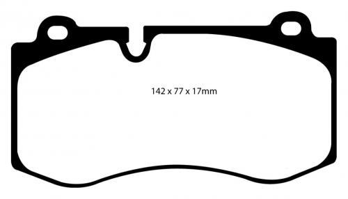 DP31943C Redstuff Front Brake Pads (Street) EBC Brakes