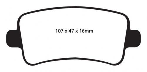 DP32016C Redstuff Rear Brake Pads (Street) EBC Brakes