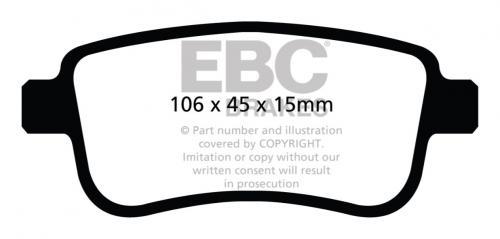 DP32025C Redstuff Bakre Bromsbelägg (Gata) EBC Brakes