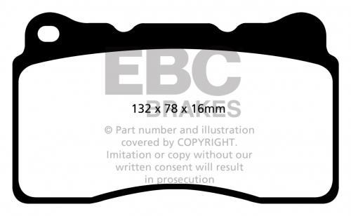 DP32093C Redstuff Front Brake Pads (Street) EBC Brakes