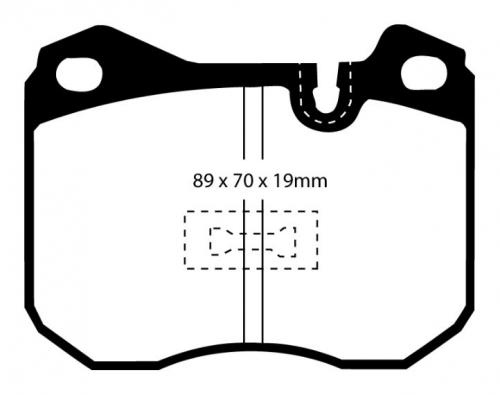 DP3345C Redstuff Front Brake Pads (Street) EBC Brakes