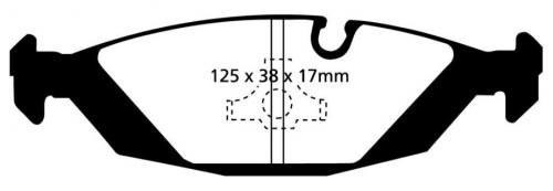 DP3447C Redstuff Rear Brake Pads (Street) EBC Brakes