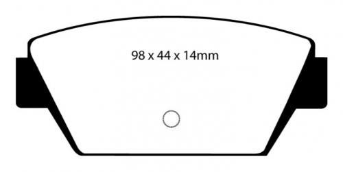 DP3576C Redstuff Bakre Bromsbelägg (Gata) EBC Brakes