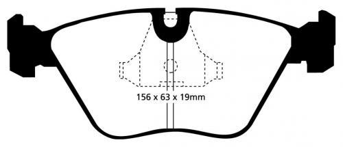 DP3689C Redstuff Front / Rear Brake Pads (Street) EBC Brakes