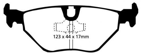 DP3690C Redstuff Rear Brake Pads (Street) EBC Brakes