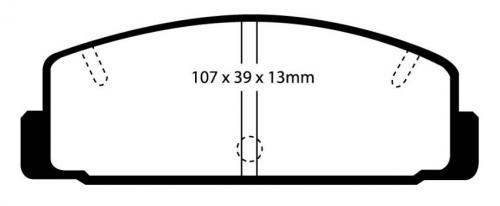 DP3729C Redstuff Rear Brake Pads (Street) EBC Brakes
