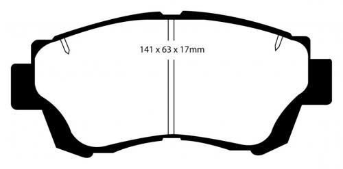 DP3874C Redstuff Front Brake Pads (Street) EBC Brakes