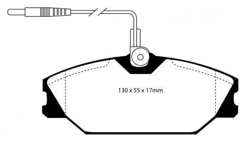 DP3949C Redstuff Främre Bromsbelägg (Gata) EBC Brakes