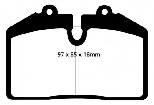 DP41013R Yellowstuff Front / Rear Brake Pads (Sport) EBC Brakes