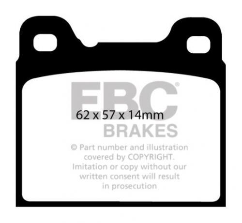DP41043R Yellowstuff Rear Brake Pads (Sport) EBC Brakes
