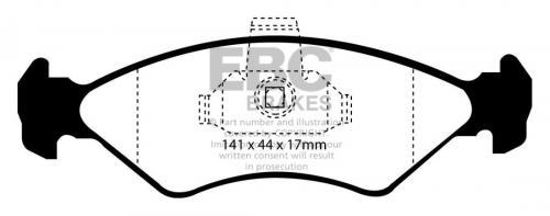 DP41050R Yellowstuff Front Brake Pads (Sport) EBC Brakes