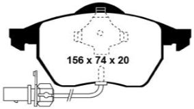 DP41114R Yellowstuff Front Brake Pads (Sport) EBC Brakes