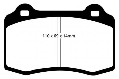 DP41140R Yellowstuff Front / Rear Brake Pads (Sport) EBC Brakes