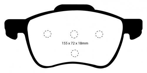 DP41229R Yellowstuff Front Brake Pads (Sport) EBC Brakes