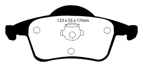 DP41231R Yellowstuff Rear Brake Pads (Sport) EBC Brakes