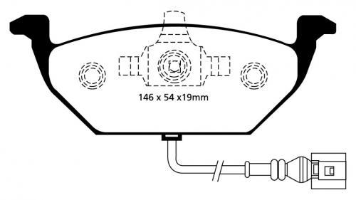 DP41329R Yellowstuff Front Brake Pads (Sport) EBC Brakes