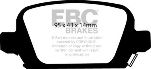 DP41410R Yellowstuff Rear Brake Pads (Sport) EBC Brakes