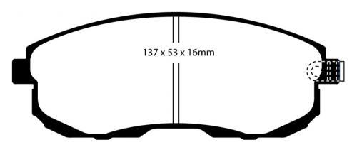 DP41636R Yellowstuff Front Brake Pads (Sport) EBC Brakes