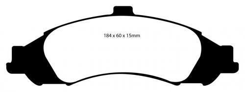 DP41721R Yellowstuff Front Brake Pads (Sport) EBC Brakes