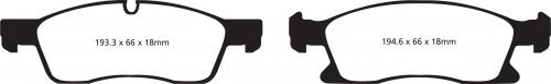DP41871R Yellowstuff Front Brake Pads (Sport) EBC Brakes