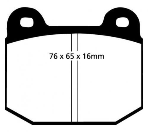 DP4197R Yellowstuff Front / Rear Brake Pads (Sport) EBC Brakes