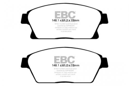 DP42067R Yellowstuff Front Brake Pads (Sport) EBC Brakes