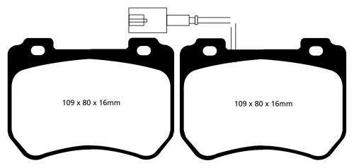 DP42074R Yellowstuff Front Brake Pads (Sport) EBC Brakes