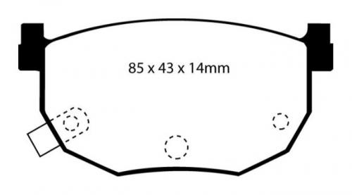 DP4528R Yellowstuff Bakre Bromsbelägg (Sport) EBC Brakes