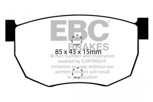 DP468 Ultimax2 Bakre Bromsbelägg (Gata) EBC Brakes