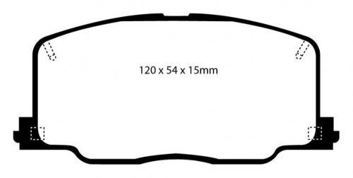 DP4725R Yellowstuff Front Brake Pads (Sport) EBC Brakes