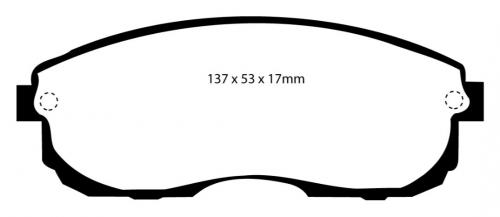 DP4775R Yellowstuff Front Brake Pads (Sport) EBC Brakes
