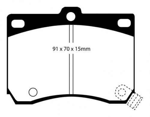 DP4824R Yellowstuff Front Brake Pads (Sport) EBC Brakes