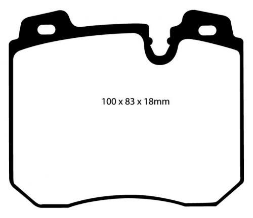 DP4886R Yellowstuff Front Brake Pads (Sport) EBC Brakes