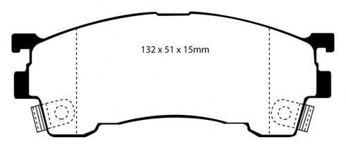 DP4971R Yellowstuff Front Brake Pads (Sport) EBC Brakes