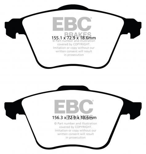 DP51574NDX Bluestuff NDX Front Brake Pads (Trackday) EBC Brakes