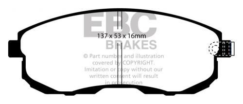 DP51636NDX Bluestuff NDX Front Brake Pads (Trackday) EBC Brakes