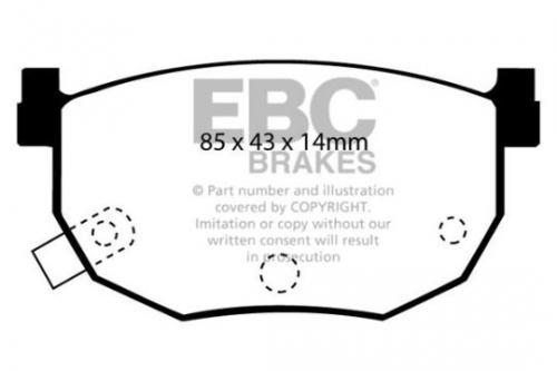 DP528 Ultimax2 Bakre Bromsbelägg (Gata) EBC Brakes