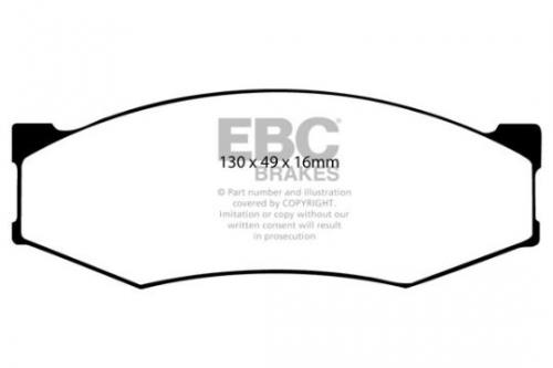 DP538 Ultimax2 Front Brake Pads (Street) EBC Brakes