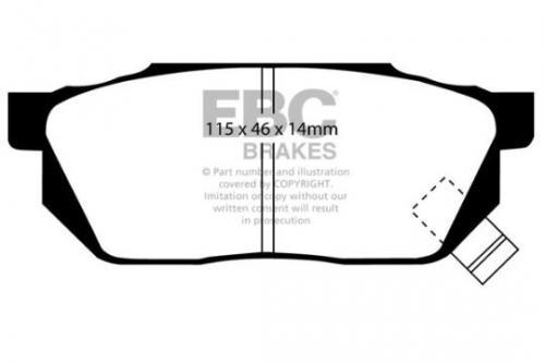 DP570 Ultimax2 Front Brake Pads (Street) EBC Brakes