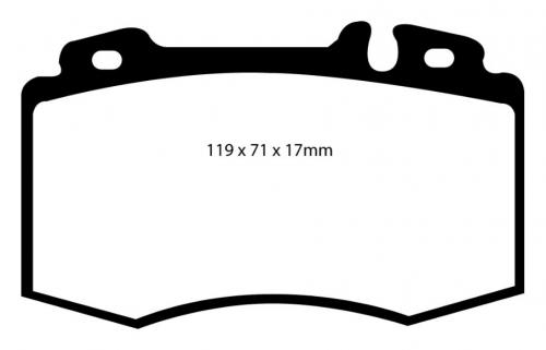 DP61363 Greenstuff Front Brake Pads (Street) EBC Brakes
