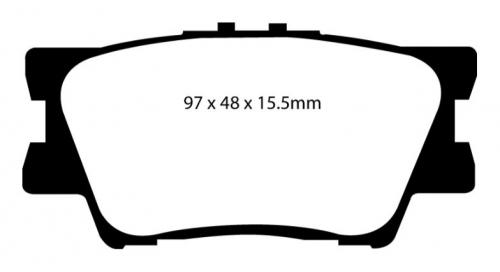DP61793 Greenstuff Rear Brake Pads (Street) EBC Brakes