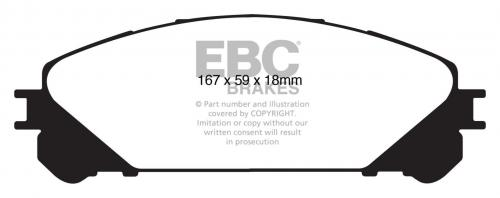 DP61837 Greenstuff Front Brake Pads (Street) EBC Brakes