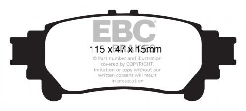 DP61850 Greenstuff Rear Brake Pads (Street) EBC Brakes
