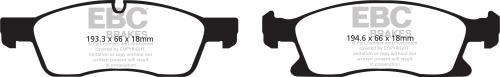 DP61871 Greenstuff Front Brake Pads (Street) EBC Brakes