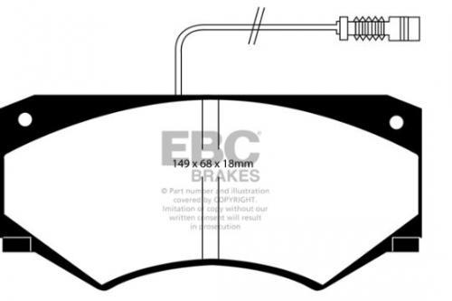 DP786 Ultimax2 Front Brake Pads (Street) EBC Brakes