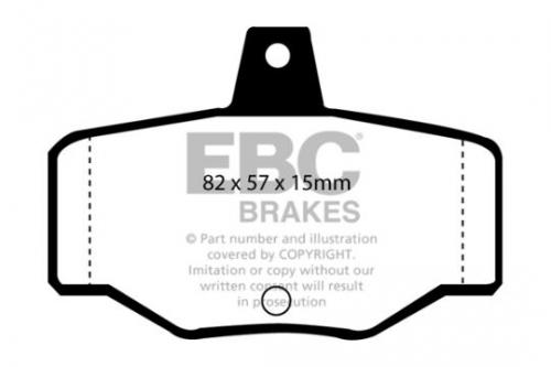 DP834 Ultimax2 Rear Brake Pads (Street) EBC Brakes