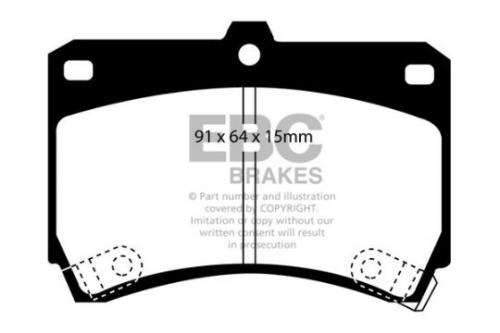 DP884 Ultimax2 Front Brake Pads (Street) EBC Brakes