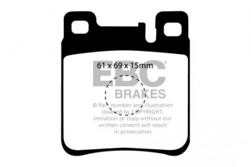 DP887 Ultimax2 Rear Brake Pads (Street) EBC Brakes